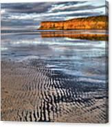 Sea Coal Saltburn Sunset Canvas Print