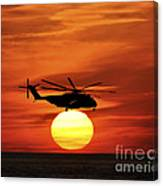 Sea Dragon Sunset Canvas Print
