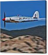 Sea Fury Fly-by Canvas Print
