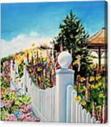 Sea Garden Walk Canvas Print