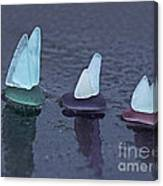Sea Glass Flotilla Canvas Print