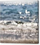 Sea Glitter Canvas Print
