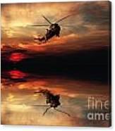 Sea King Sunset  Canvas Print