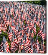 Sea Of Flags Canvas Print