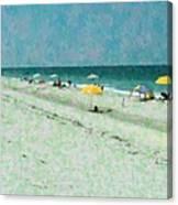 Sea Of Umbrellas Canvas Print