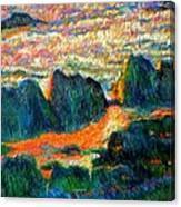 Sea Point Rocks Canvas Print