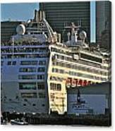 Sea Princess At Pier 29 San Francisco Canvas Print