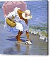 Sea Shell Pink Canvas Print