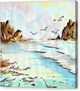Sea Shore Impressions Canvas Print