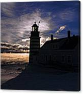 Sea Smoke At West Quoddy Head Lighthouse Canvas Print
