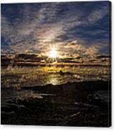 Sea Smoke Panorama Canvas Print