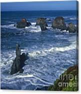 Sea Stacks Central Coast Near Rockport California Canvas Print