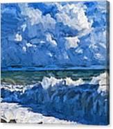 Sea Storm Coming Soon Canvas Print
