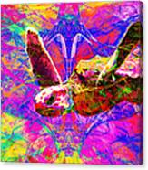 Sea Turtle In Abstract V3 Canvas Print