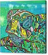 Sea Turtle Sam Canvas Print