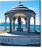 Seafarer's Memorial On Homer Spit-ak Canvas Print