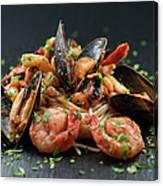 Seafood Pasta Canvas Print