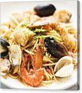 Seafood Pasta Dish Canvas Print