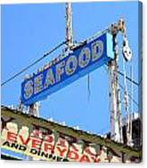 Seafood Sign Canvas Print
