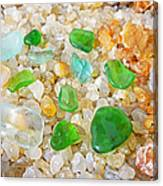 Seaglass Green Art Prints Agates Beach Garden Canvas Print
