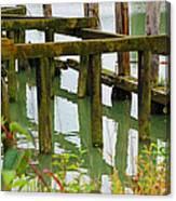 Seagull Nesting Dock Canvas Print