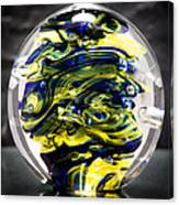 Seahawks Glass -  Solid Glass Sculpture  Canvas Print