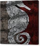 Seahorse Gratitude Canvas Print