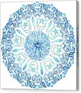 Seahorse Mandala Canvas Print