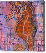 Seahorse Sandy Canvas Print