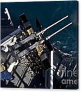 Seaman Fires Twin .50 Caliber Machine Canvas Print