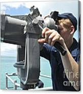 Seaman Mans The Big Eyes Aboard Canvas Print