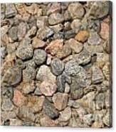 Seamless Background Gravel Stones Canvas Print