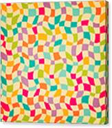 Seamless Color Mosaic Background Canvas Print