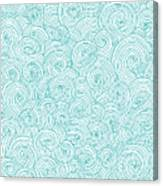 Seamless Pattern Of Doodle Swirls And Canvas Print