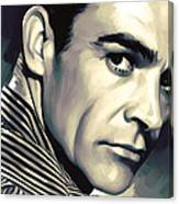 Sean Connery Artwork Canvas Print