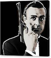 Sean Connery James Bond Square Canvas Print