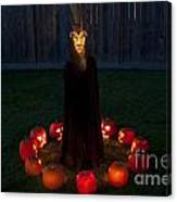 Seance Pumpkins Demon Canvas Print
