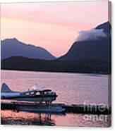 Seaplane And Cloud Canvas Print