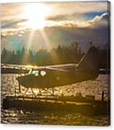 Seaplane Sunset Canvas Print