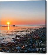 Seapoint Beach In  Kittery Point Maine Canvas Print