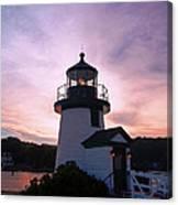 Seaport Nightlight Canvas Print