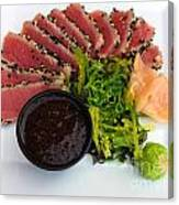 Seared Tuna With Ginger Canvas Print