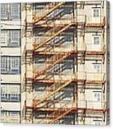 Sears Crosstown Fire Escape Memphis Tn Canvas Print