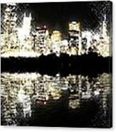 Sears Tower Dominated Skyline Lake Reflection  Canvas Print