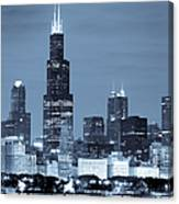 Sears Tower In Blue Canvas Print