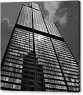 Sears Willis Tower Black And White 02 Canvas Print