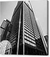 Sears Willis Tower Chicago Black And White Picture Canvas Print