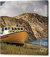Seasacape With Boat Canvas Print