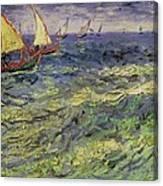Seascape At Saintes-maries 1888 Canvas Print