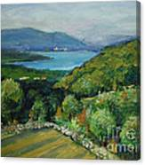 Seascape From Kavran Canvas Print
